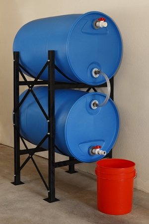Hydrant Water Storage System Double Without Barrels
