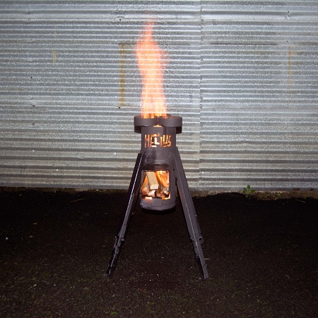 Helius Rocket Stove Portable Wood Stove Fueled By Anything